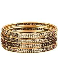 Zeneme Trendy Gold Plated Designer Bangles Jewellery For Women/Girls…