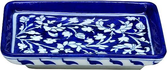 The Himalaya Craft Blue Pottery ceramic Decorative Tray