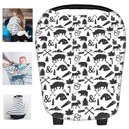 multi-usages Modal d'allaitement allaitement Coque auto pour bébé Housse de protection pour auvent Shopping Cart Housse Nid d'ange pour bébé nouveau-né tout-petits Douche Cadeau