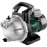 Metabo Gartenpumpe P 4000 G, langlebige Bewässerungspumpe, für den Außenbereich mit 1100 W, robuste Konstruktion, wartungsfreier Kondensatormotor, Fördermenge 4000 l/h, 600964000