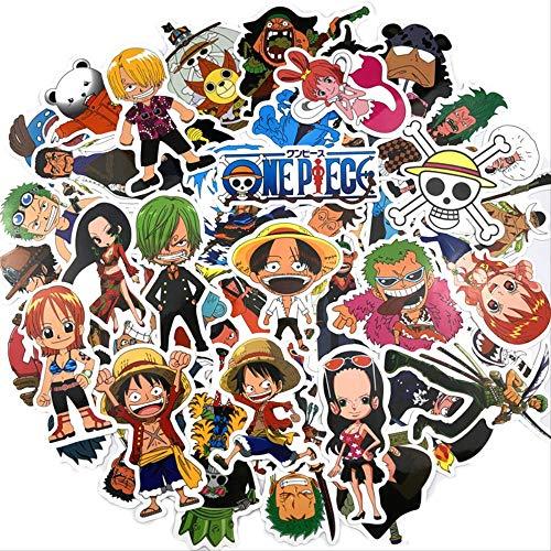 WH MaiYY 48 Piezas De One Piece Maleta Pegatinas Lu