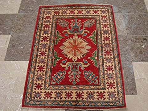 Kazak Super Geometric Veg Dyed Mahal Rectangle Rug Hand Knotted