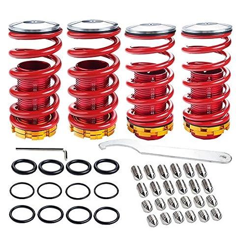 Juding JDM Racing Honda Civic 88–00Tieferlegungsfedern rot verstellbar Sleeve Federung Gewindefahrwerks Spring Kits