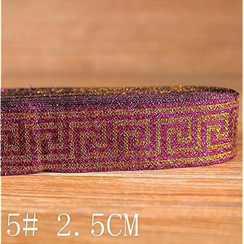 GAOHL 2.5 CM bordo nastro/pizzo collare cappotto