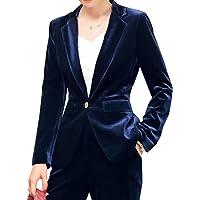 SEBOWEL Blazer Velluto Donna Elegante Cerimonia Corto Giacca Jacket Invernale