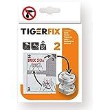 Tiger 398830046 Fix Type 2, Metaal, Chroom, 3,3 x 2,9 x 0,6 Cm