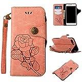 Ecoway iPhone 7 Plus/8 Plus Coque, Série rétro Roses Peint Etui Portefeuille Flip...