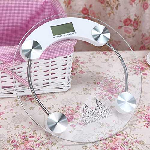 Zhangtianshi Digital Kitchen Cooking Scaleweight Scales Scales Electronic Scales Health Scales 180Kg, White