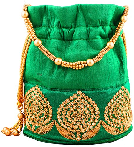 Wedding Collection 2018 : Bombay Haat Ethnic Rajasthani Potli Bag / Clutch / Bridal Clutch  available at amazon for Rs.349