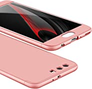 OUYAWEI Portable For For HUAWEI P10 Plus Ultra Slim Back Cover Non-slip Shockproof 360 Degree Full Protective Case Rose gold