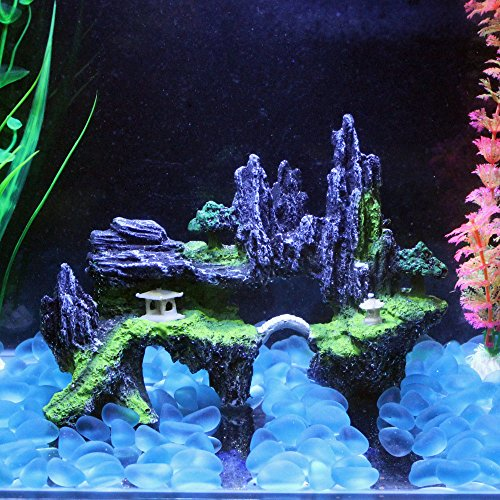 z Baum Steingarten Stein Aquarium Landschaft Dekorationen Poly Fisch Tank Decor Ornaments Dekoration Fisch Garnelen Sucher Hippie Shelter House Unterwasser Verstecken Cave (Hello Kitty Halloween-hintergründe)