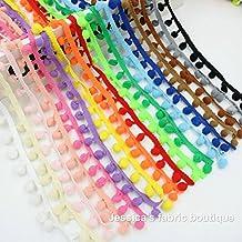 30 m cinta pasamaneria madroños algodon de 17 colores 1.80 m de cada color cintas perfectas