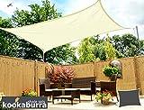 Kookaburra Sonnensegel, atmungsaktiv, 5 m x 4 m, rechteckig, 90% UV-Schutz