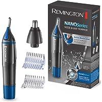 Remington Hygiene Clipper NanoSeries NE3850, Trimmer für Nasen-, Ohren- & Augenbrauenhärchen, Rotationsschneidsystem, grau/blau