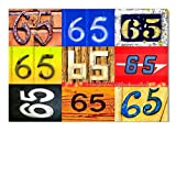 DigitalOase Glückwunschkarte 65. Geburtstag Geburtstagskarte Grußkarte Format DIN A4 A3 Klappkarte PanoramaUmschlag #LETTERS