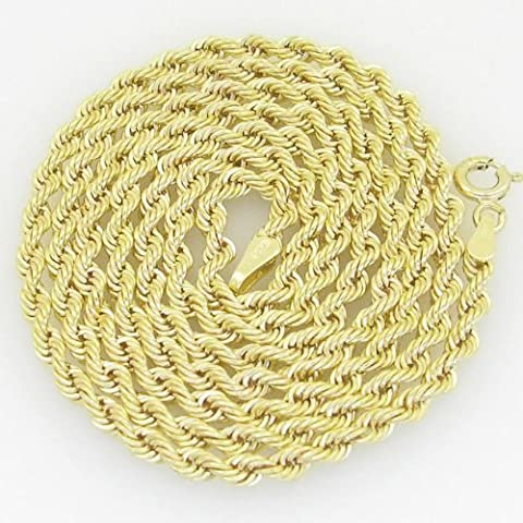Gold-Chains Mens 10K yellow gold franco cuban miami figaro bullet rope fancy chain gc6 Length - 24