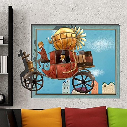 MIAORUI 3d - stereo - hd - fernseher im schlafzimmer, wohnzimmer, selbstklebende aufkleber wall - tapete (Strand-wand-abziehbilder Für Kinderzimmer)