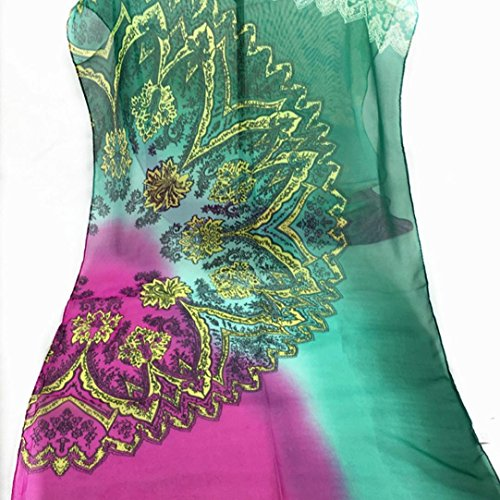 Transer ® Femelle Écharpes,Echarpe mode féminine longue en mousseline de soie douce Wrap Mesdames châle Violet