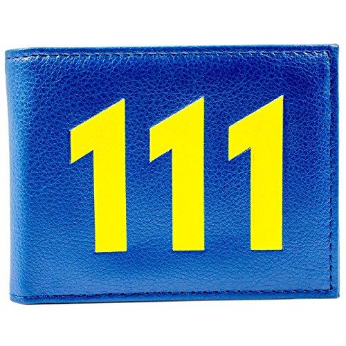 ault 111 Blau Portemonnaie Geldbörse (Vault 111 Kostüm)