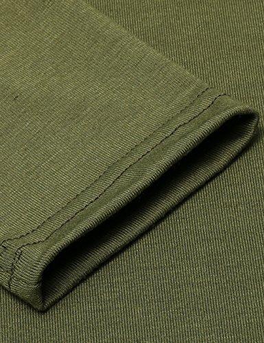 ZEARO Sexy Damen Partykleid Minikleid Pullover Lang Langarm Bodycon Schulterfrei Slim Fit Pulli Jerseykleid Grün