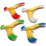 Duluck 4 Pièces Jouet déquilibrage des Oiseaux, Aigle en équilibre avec Base Pyramide, Jouets de Soulagement du Stress, Jouet