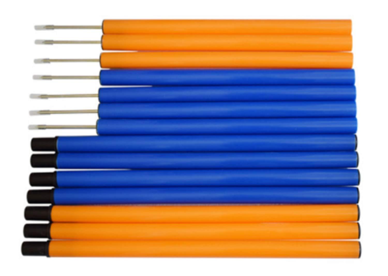 AERZETIX Gusset Hand Gear Stick Knob Black with Blue Stitching