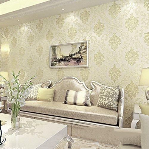 TataYang 10m Moderne Tapete, Geprägte Strukturierte Linien Tapeten Rolls, Gestreifte Tapeten für Wohnzimmer Schlafzimmer Dekoration (Pattern 4) -