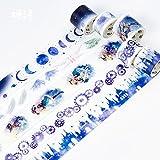 JSGDJD Klebeband 5 Stk./Pack kleine Hexe Magic Castle Washi Tape DIY Scrapbooking Sticker Label Abdeckband Schule Bürobedarf Schreibwaren Geschenk - 5 Stk/Pack