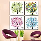 Berry President® Counted Cross Stitch Cotton Thread Kits Beautiful Rich Color Flowers Happy Tree -- Four Seasons (Four seasons)