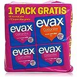 Evax - Compresas - 48 normal alas + 12 super alas - 1 pack