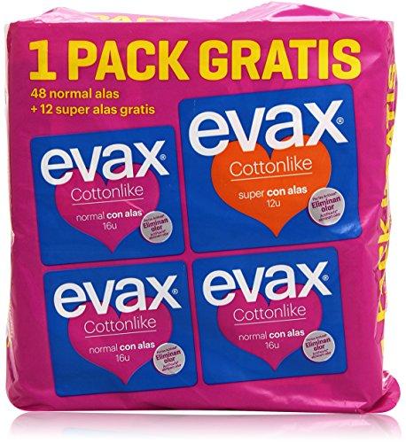 Evax Cottonlike Set di Assorbenti di Normali e Super Ali - 50 gr