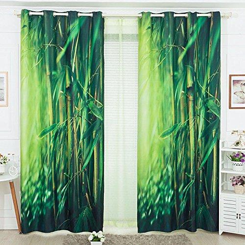 Sproud 3D Foresta Di Bamboo Tenda Tende In Tessuto Per Il Soggiorno Con Verde Nella Finestra Di Aletta Parasole-240Cmx240Cm