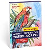 Aquarellpapier 300g, Din A3, Weiß, 35 Blatt   Aquarellblock XXL von Tritart