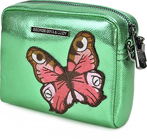 George Gina & Lucy, Borsa a tracolla donna verde verde metallizzato taglia unica verde metallizzato