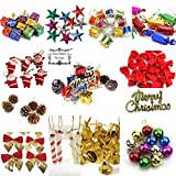 #7: Decorative Buckets:christmas decorations :ASSORTED CHRISTMAS TREE DECORATIONS|PACK OF 12 |MIX CHRISTMAS DECORATIONS |chistmas gifts christmas balls, pinecone,candy stick, christmas bells drums banner : CHRISTMAS TREE DECORATIONS | MIX ornaments | christmas tree decorations |christmas tree hanging| christmas décor | christmas tree ornaments