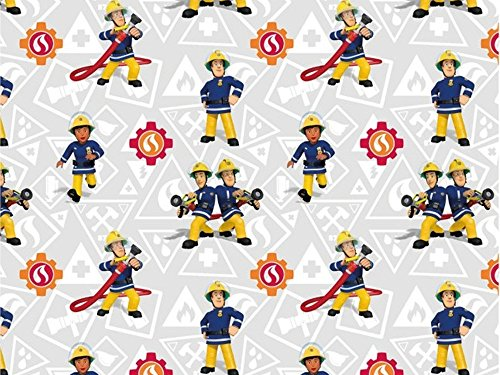 feuerwehrmann sam meterware Baumwolljersey Feuerwehrmann Sam 2, Meterware ab 0,5 m/Top-Qualität/Öko-Tex 100 / Stoffe Hemmers Exklusiv
