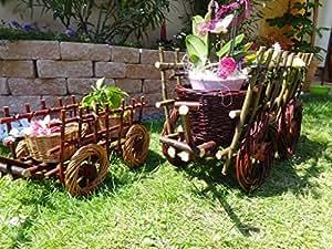 2x Jardin Cintre Leiterwagen Marron clair 60x 80cm, XXL, fabriqué à partir de korbruten en osier résistant aux intempéries * * * * * * * * * * * * * * * * Idéal comme une pratique Jardin Pot de fleurs; Fleurs; plantes Plante, panier, bac, pot de fleurs pots de fleurs en rotin panier en osier Greentree Blanc en bois de jardin Brouette jardinière Plante en pot de fleurs, pot de fleurs, pot de fleurs, pot de fleurs, pots, maison en bois pot de fleurs pots de fleurs