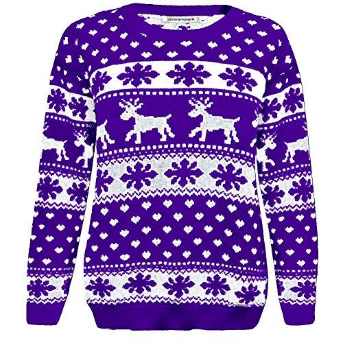 Jungen Neue Kinder Weihnachten Rentier Schneeflocke Neuheit Gestrickte Kinder Weihnachten Fairisle Pullover Top (Schneeflocken-pullover)