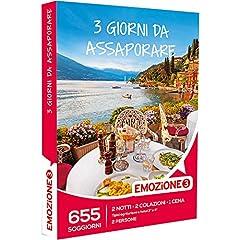 Idea Regalo - Emozione3 - Cofanetto Regalo - 3 GIORNI DA ASSAPORARE - 655 soggiorni di 2 notti, 2 colazioni e 2 cene in agriturismi e hotel