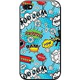 Comic Action à bulles adjectif Papier peint Coque rigide pour téléphone portable, plastique, Blue Comic Action Splash Boom, Apple iPhone 4S / 4
