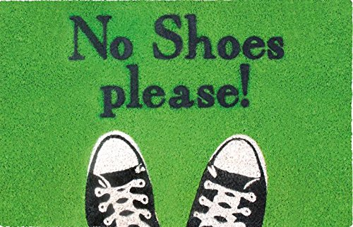 Preisvergleich Produktbild SHOE-MAX YH 101769 No Shoes Fussmatt, 44 x 74 cm, 2,1 kg