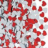 P Prettyia 30g Herzen Konfetti Streudeko Streuartikel Tischdeko für Hochzeit Valentinstag und Jubiläum - 2