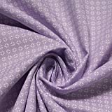 Stoff Baumwolle Popeline Kreise flieder weiß Baumwollstoff