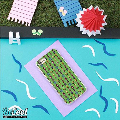 BeCool®- Coque Etui Housse en GEL Flex Silicone TPU Iphone 8, Carcasse TPU fabriquée avec la meilleure Silicone, protège et s'adapte a la perfection a ton Smartphone et avec notre design exclusif. App L1482
