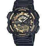 Casio Watch for Men AEQ-110BW-9AVDF Analog - Digital Resin Band Black
