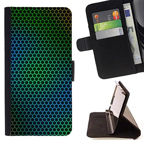 book-case-for-sony-xperia-m4-aqua-steel-green-net-folio-pu-wallert-leather-case