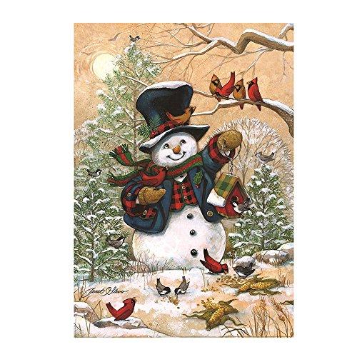 Kicode TOPmountain Freunde Garten im Freien Flagge Schneemann Winter Saisonal Banner Frohe Weihnachten Dekoration Ornament