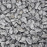 PALIGO Granit Splitt Zier Edel Kies Deko Stein Garten Natur Kiesel Dekor Salz & Pfeffer Grau Grob 16-22mm 20kg x 50 Sack 1.000kg / 1 Palette Galamio®