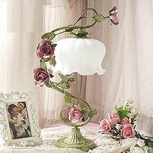 Rose matrimonio lampada da tavolo lampada da comodino camera da letto lampada da tavolo creativo regali di nozze decorazione del giardino in ferro battuto antico vintage lampada fare