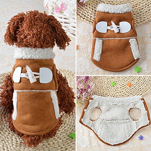 Cute Puppy Mantel, woopower Dog Motorrad-Style Winter Warm Jacken Kleidung Pet ()